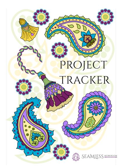 Tracker for drapery workroom projects.