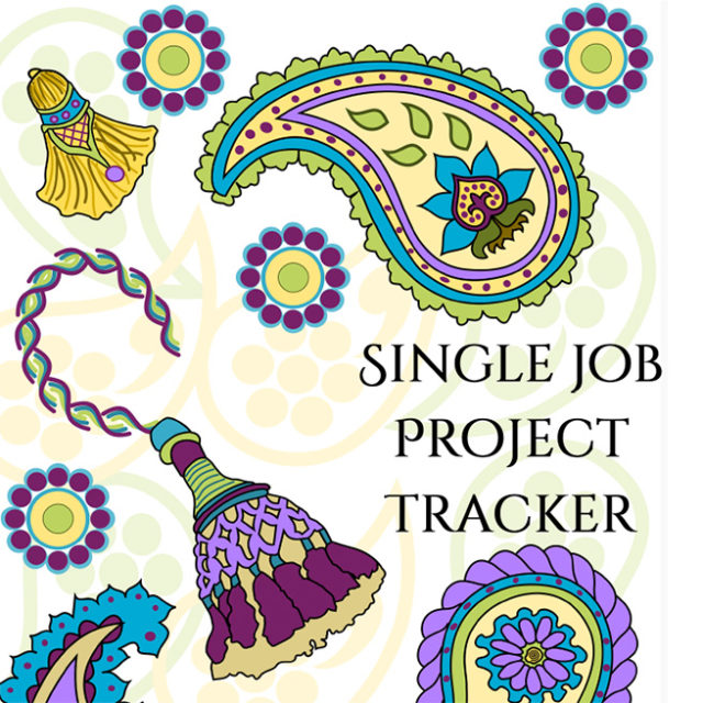 Single Job Project Tracker Cover